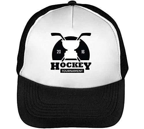 Hombre Negro Blanco Sport Tournament Hockey Beisbol Gorras Snapback Badge ZqzxF6