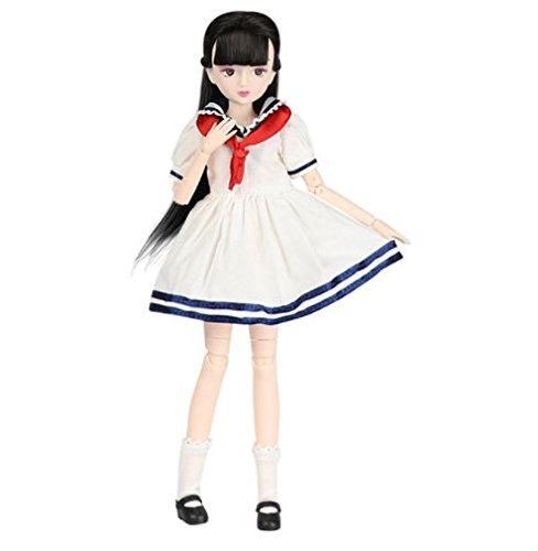 4) Xiaojing school girl ball jointed doll - by Fortune days toys.