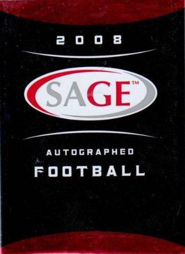 1 (One) Pack - 2008 Sage Autographed Football Hobby Pack (3 Cards per Pack) - Possible Matt Ryan, Matt Forte, Chris Johnson, Joe Flacco, DeSean Jackson, Darren McFadden, and/or Felix Jones Rookie Cards!!!!