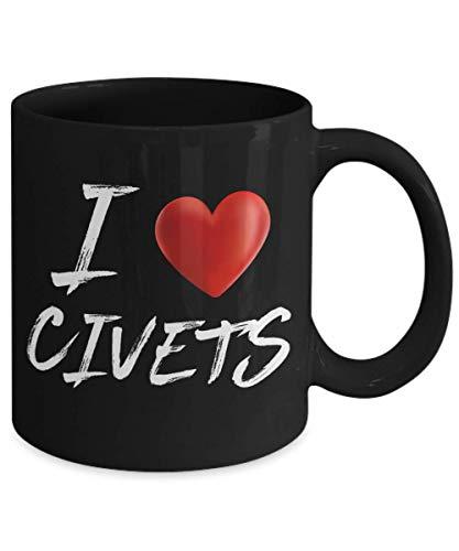I Love Heart CIVETS Animal Pet Lover Coffee Mug ()