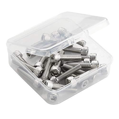 M5-0.8 x 25mm Socket Head Cap Screws, Stainless Steel 304, Allen Socket Drive, Full Thread, Bright Finish, 50 ()