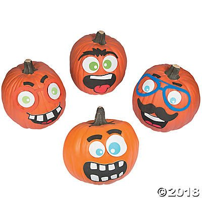 12 pack- Funny Face Pumpkin Decorating Craft Kits