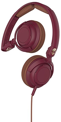Skullcandy Lowrider Headphones with Rotating Earcups, Supreme Sound Tuning, All Day Comfort, and Built-In Mic; Perfect for Active Lifestyles and Easy Listening, Maroon/Brown/Copper