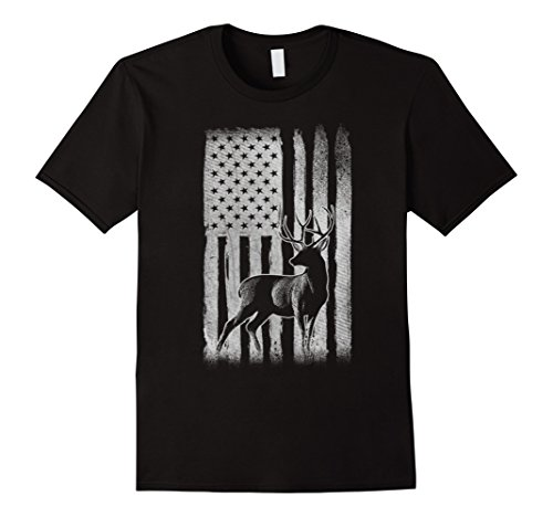 Mens Cool Deer Hunter T-Shirt Hunting Lover Gifts Large Black