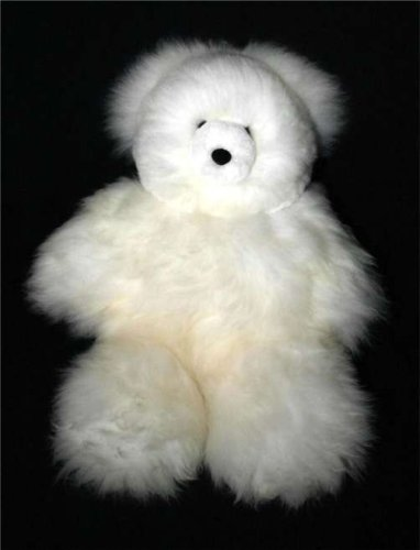 Soft Cuddly Baby Alpaca Fur Large Hand Made Panda Teddy Bear (Large Holiday Bear)
