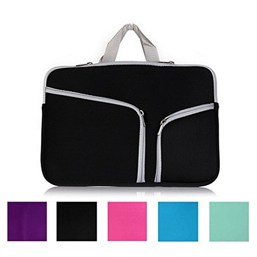 Koala group*MacBook 13.3 Zoll Notebook-Hülle, wasserdicht / Antifouling-Neopren, doppelte Tasche Außenfach Reißverschlussfach Sleeve -----Black