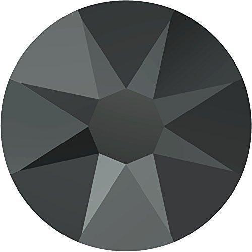 2000, 2058 & 2088 Swarovski Flatback Crystals Non Hotfix Jet Hematite F | SS34 (7.2mm) - 30 Crystals | Small & Wholesale Packs