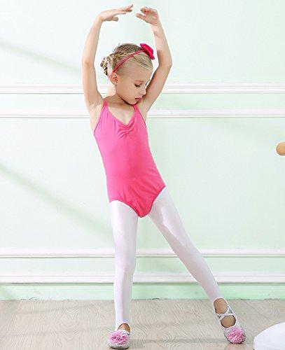 Acvip Gymnastique Performance Rose De Sport T Bretelle À En Ballet shirt Fille Rouge Justaucorps Coton Danse 6qXn6xrIw