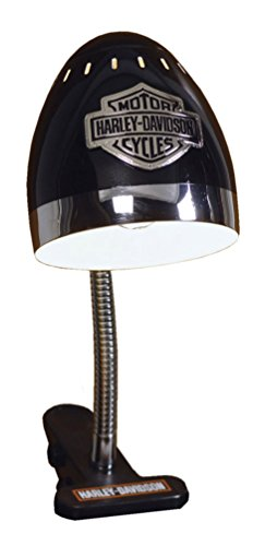 Harley - Chrome and Black Clip Lamp