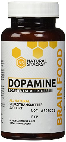 Dopamine Brain Food Supplement - All Natural Neurotransmitter Support - For Mental Alertness, Improved Learning, Attention, Concentration and Confidence by Natural Stacks