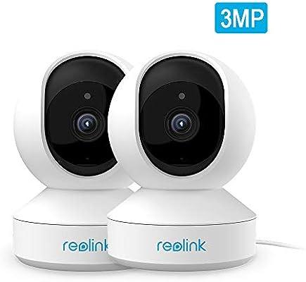 Reolink Cámara de Vigilancia WiFi 2.4GHz 3MP Súper HD, 2pcs Inalámbrica Cámara IP Interior, Bebé Monitor de Cámara con Inclinación Panorámica, Visión Nocturna, Audio, Acceso Remoto, E1(Pack de 2): Amazon.es: Electrónica