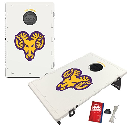 Victory Tailgate West Chester Univ. Golden Rams Baggo Cornhole Boards Set, NCAA Classic (Includes Matching Bags!) by Victory Tailgate