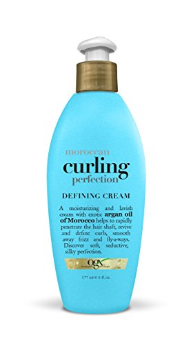 Dry Your Hair Diffuser - OGX Renewing Moroccan Argan Oil Curling Perfection Defining Cream (6 Ounce, 1 Bottle) Moisturizing and Lavish; Scrunch and Air Dry or Use a Diffuser; for All Hair Types