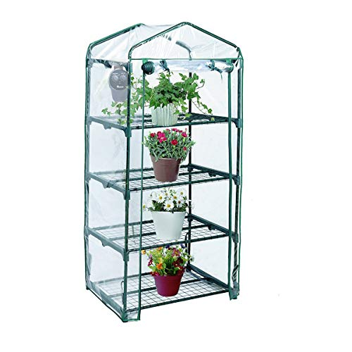 Yardeen 4 Tier Mini Greenhouse Rack Stands Portable Garden for Outdoor & Indoor by Yardeen (Image #6)