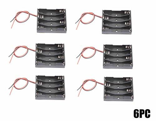 WAYLLSHINE 6PCS 4 x 1.5V AAA Battery Spring Clip