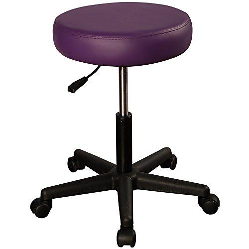 Mt Massage Tables Pneumatic Rolling Massage Stool, Purple