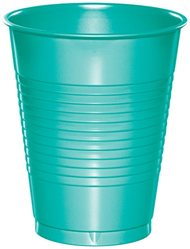 Creative Converting 324775 Touch of Color 240 Count 16 oz Plastic Cups, Teal Lagoon