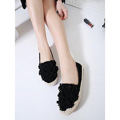 occasionnelle de Talons LvYuan ggx noir confort black amande peau féminins porc CPFnSqw