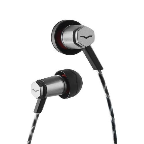 V-MODA Forza Metallo In-Ear Headphones with 3-Button Remote & Microphone - Apple Devices, Gunmetal Black