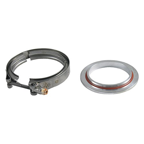 Turbo Discharge Flange - Precision Turbo Compressor Discharge Flange Kit for GT42/GT45/GT47/GT55/Pro Mod - Mild Steel (Includes Clamp & O-Ring)