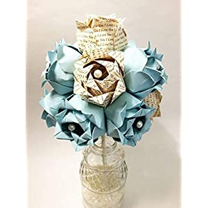 Custom Dozen Paper Roses- You choose text & colors, traditional first anniversary gift, Personalized origami 10