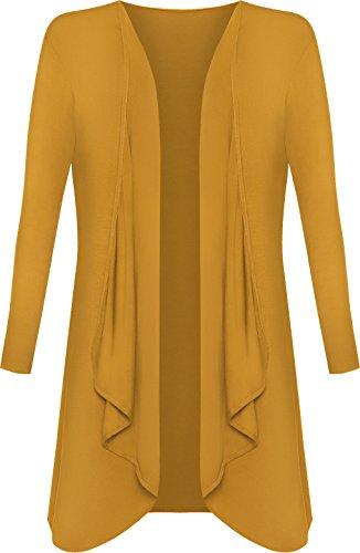 (ウェアオール) WearAll 大きいサイズレディース無地長袖オープントップ滝カーディガン