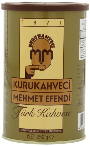Mehmet Efendi Turkish Coffee, 250-Gram Cans (Pack of 2) (Best Turkish Coffee In Istanbul)