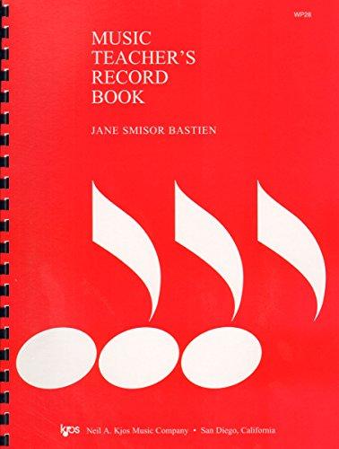 Music Teachers Record Book - WP28 - Music Teacher's Record Book – Bastien