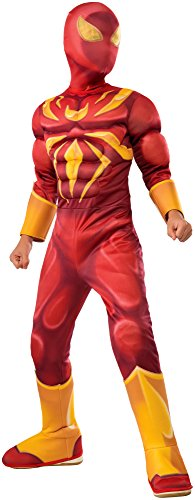 Ultimate Spider-man Costumes (Rubie's Costume Spider-Man Ultimate Deluxe Child Iron Spider Deluxe Child Costume, Medium)