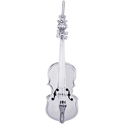 Rembrandt Sterling Silver Violin Charm (12 x 41 mm)