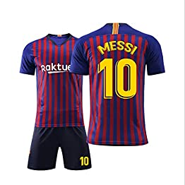T-Shirt de Football Costume Sportif Barcelona Jersey 10 Messi Football Vêtements de Sport T-Shirt de Football for garçons Convient aux Adultes et aux Enfants WASDUNS (Size : 20#)