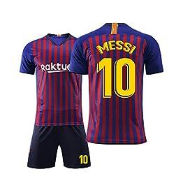 T-Shirt de Football Costume Sportif Barcelona Jersey 10 Messi Football Vêtements de Sport T-Shirt de Football for garçons Convient aux Adultes et aux Enfants WASDUNS (Size : 20#)