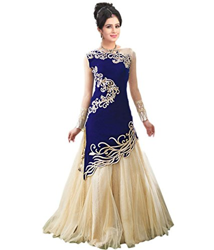 blue anarkali dress - 7