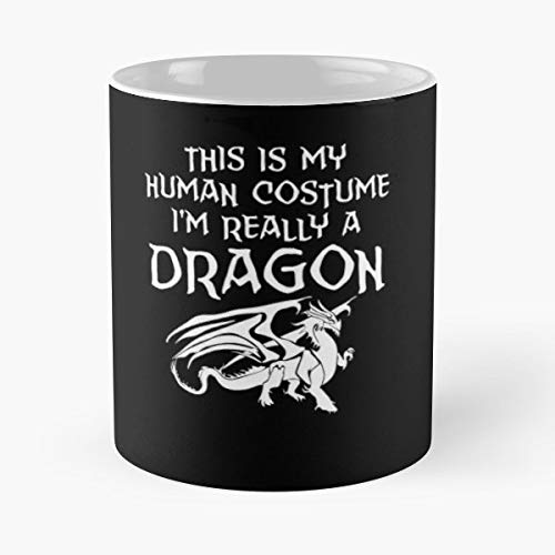 This Is My Human Costume Im Really A Dragon Lover I Love Dragons - Coffee Mugs Best Gift For Father Day