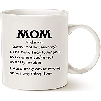 Amazon.com: Mom Definition Funny Coffee Mug 11 oz - Top Christmas Gifts For Mom - Unique Gift ...