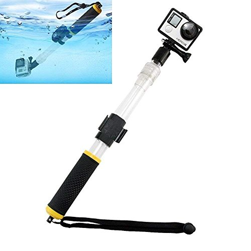 HagieNu Floating Selfie Stick Waterproof Telescopic Pole Floating Hand Grip 14-22'' Extendable Go Pro Selfie Grip Water Diving Selfie Monopod for GoPro Hero 6/5/4/3 SJ4000/J5000 Action Camera