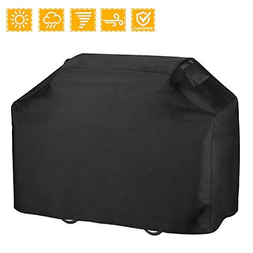 Anglink BBQ Grill Cover, 58 inches Heavy Duty Waterproof Barbecue Cover with Double Stitching and Heat Sealed Seams, 600D Oxford Rip-Stop Gas Grill Cover for Brinkmann, Char Broil etc.