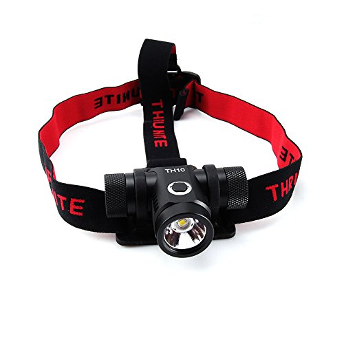 ThruNite TH10 Headlamp Flashlight 825 Lumen Single CREE XM-L2 U2 LED (TH10 XM-L2 CW + U1 +34001)