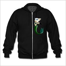 8aa38574d Hot The Mermaid Cat Custom Men's Hoody Zip Hoodie Sweatshirt Jacket Black  X-Large: Amazon.com: Books