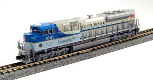 Kato USA Model Train Products EMD SD70ACe #4141 George Bush N Scale Train