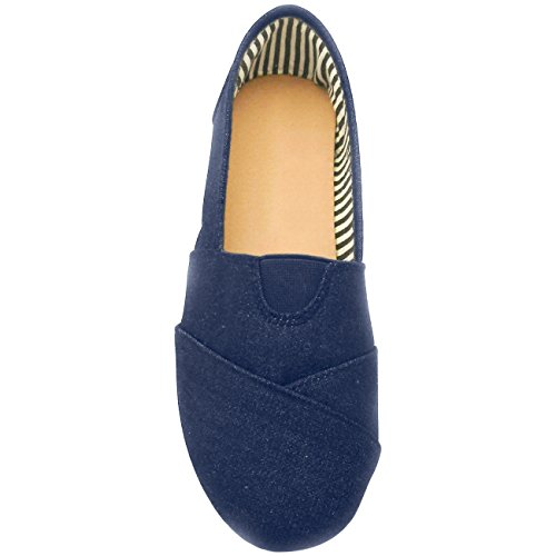 Sandalo Casual In Pelle Vendita Sarah Slip On Appartamenti In Tessuto Per Donna Da Denim (colori Assortiti)