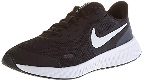 Nike Unisex Revolution 5 Grade School Running Shoe, Black/White-Anthracite, 6Y Regular US Big Kid