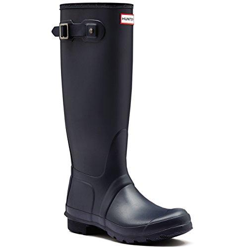 Womens Cacciatore Originale Ampio Fit Rainboots Impermeabile Neve Wellingtonton Navy