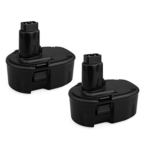 Biswaye 2 Pack 14.4V 3.0Ah NiCD Battery for Dewalt DC DW XRP Series 14.4-Volt Battery DC9091 DW9091 DW9094 DW9094 DC9091 DE9038 DE9091 DE9092