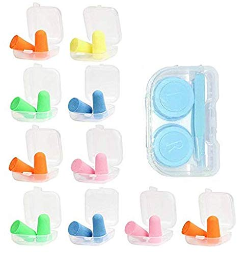 - Anti-Noise and Flexible Earplugs, Anti-Noise Earplugs for Men and Women, 6 Color Earplugs (10 Pieces)