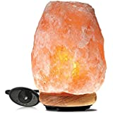 Himalayan Glow 1002 Pink Crystal Salt Lamp, (8-11 lbs), Natural