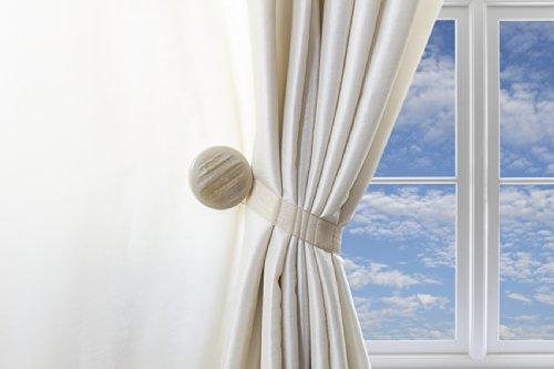 Un par cortina Clips, hebilla magnética alzapaños, Creative cortina accesorios, sin necesidad de herramientas, Gem (arena)