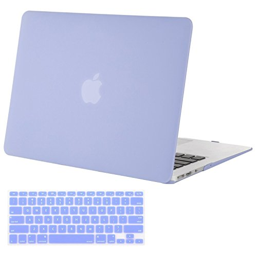 Mosiso Plastic Hard Case with Keyboard Cover for MacBook Air 11 Inch (Models: A1370 and A1465), Serenity Blue
