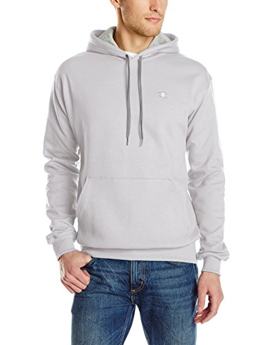 Champion Men's Pullover Eco Fleece Hoodie, White, XX-Large