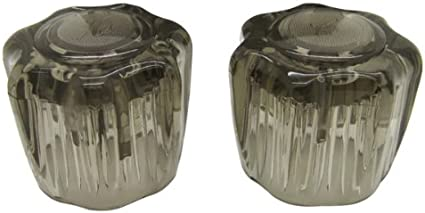 Smoked Acrylic Knobs RV Faucet Replacement Handles Dura Faucet One Pair Hot//Cold DF-RKS For Dura Faucet Branded Faucets Only